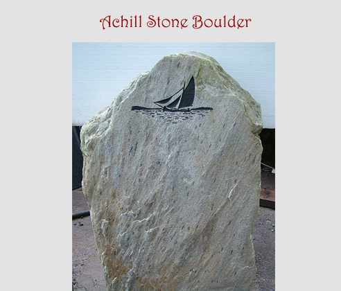 Galway Hooker Carved stone