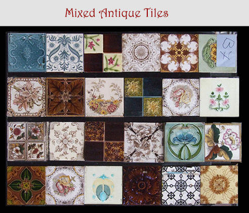 mixed ornate antique tiles